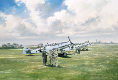 Somewhere in France - Scenes of the Battle of Britain print