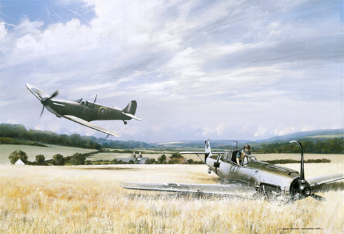 Victory over Kent - Scenes of the Battle of Britain print